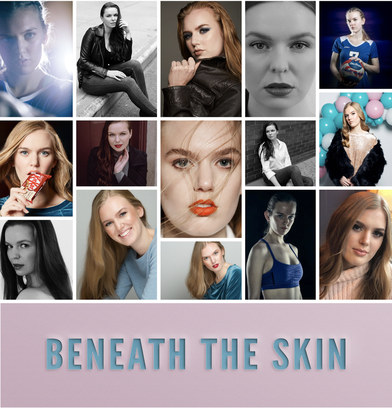 Movie poster for Beneath the Skin. Modelling shots of our subjects. Katie, and Andrea